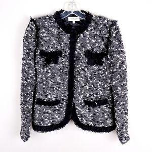 Teri Jon   Black White Vintage Blazer - H11